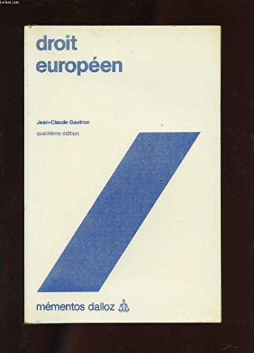 Droit européen (Mémentos Dalloz)
