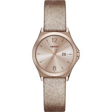 DKNY NY2372 Ladies Parsons Bronze Leather Strap Watch