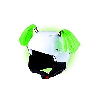 Crazy Ears Helm-Accessoires Zöpfe. Ski-Ohren geeignet für Skihelm Motorradhelm Fahrradhelm und vieles mehr. Helm Dekoration für Kinder und Erwachsene, CrazyEars:Zöpfe Grün