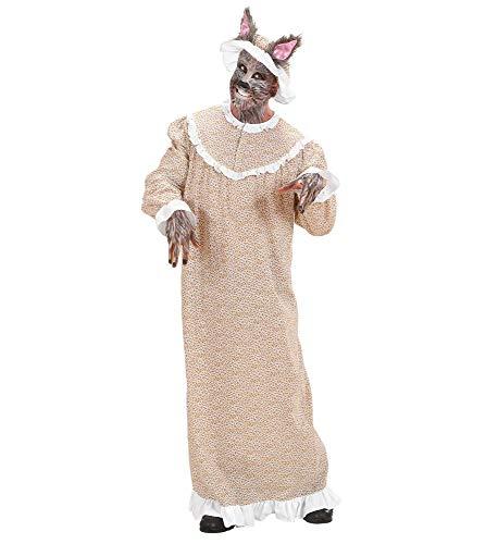 shoperama Böser Wolf Großmutter Herren Kostüm 2-TLG. Rotkäppchens Oma Karneval Märchen, Größe:L (Oma Nachthemd Kostüm)