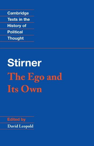 Stirner: The Ego and its Own Paperback (Cambridge Texts in the History of Political Thought) por Stirner