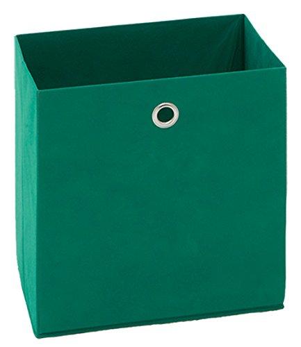 PEGANE Boîte Pliable en intissé Coloris Vert, L 32 X H 32 X P 32 cm