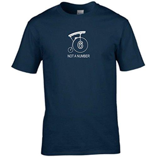 Nummer 6-der Gefangene Herren t shirt Blau - Navy