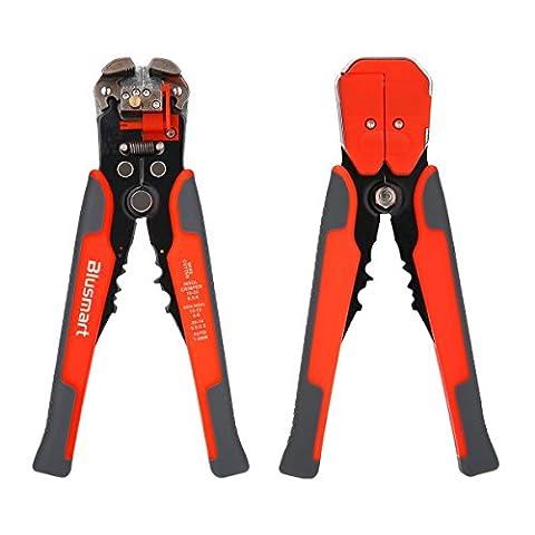Pince à Dénuder, Blusmart autoréglable automatique Outil de dénudage de fil avec ProTouch Grips AWG 24-10 (0,2 ~ 6.0mm²) - Multi Tool Stripper, Cutter et Crimper (Orange avec Gray)