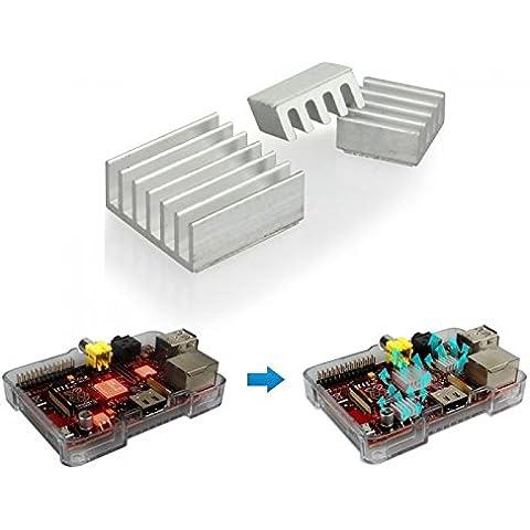 Ganvol Kit 3pcs adhesiva de aluminio del disipador de calor del refrigerador para el enfriamiento Model A / Model B 1 1+ 2 3 / Computer Module / Zero