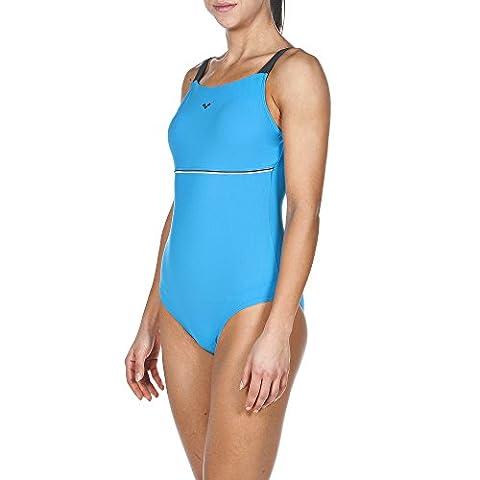 Arena Maillot de bain pour femme Body Lift Ingrid 48 Turquoise/Ash Grey/White