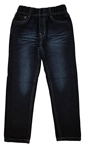 Bequeme Jeans mit rundum Gummizug in schwarz, Gr. 98, J162.4