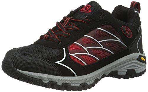 bruetting-valley-low-zapatos-de-high-rise-senderismo-unisex-adulto-negro-schwarz-rot-42-eu