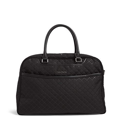 Vera Bradley Damen Iconic Lay Flat Weekender Bag Wochenendtasche, schwarz, Einheitsgröße