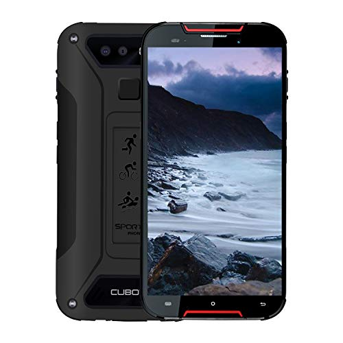 CUBOT Quest Lite 5,5-Zoll-Quad-Core-Android 9.0 Pie entsperrt leistungsstarkes Smartphone, 3 GB + 32 GB, 4-G-Dual-Karte, 3000-mAh-Akku, 12-Megapixel-Kamera, IP68 (schwarz) Verizon Pda