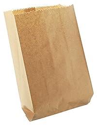 Grocery Bag/Snack Bag/Food Bags/Paper Bag (Brown, 20 cm x 7 cm x 37 cm, 2 Kg, 100 Pieces)