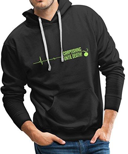 Angeln Karpfenangeln Männer Premium Kapuzenpullover von Spreadshirt®