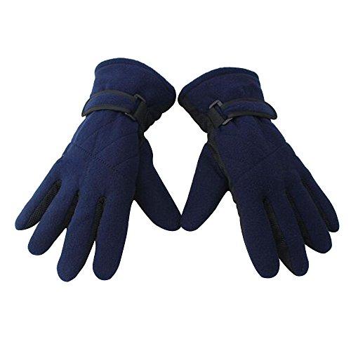 Eizur invernali pile antiscivolo sport guanti unisex outdoor antivento termica thinsulate caldi ispessimento guanti per ciclismo sci escursionismo caccia arrampicata motociclo--blu navy