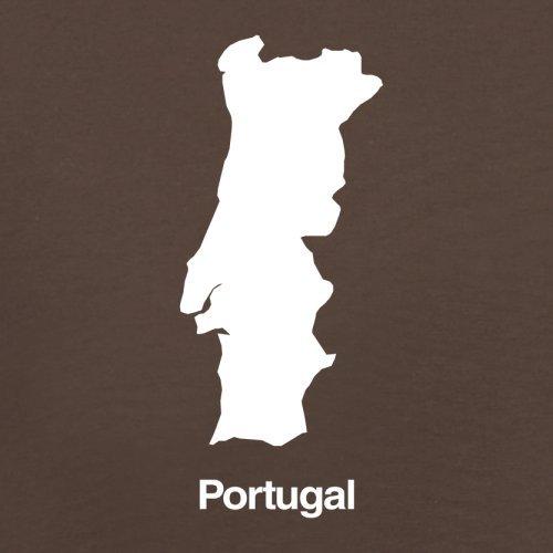 Portugal / Portugiesische Republik Silhouette - Herren T-Shirt - 13 Farben Schokobraun