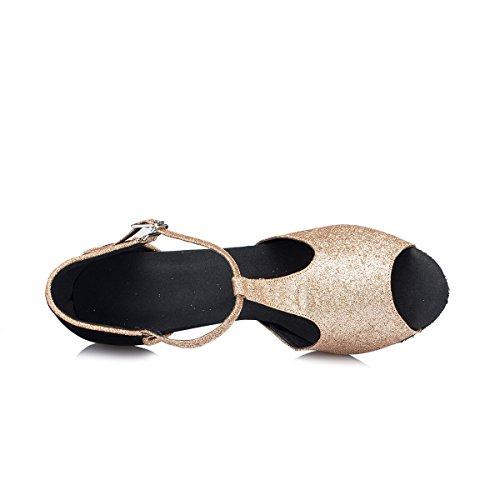 Miyoopark ,  Damen Tanzschuhe Gold/Black-8.5cm Heel