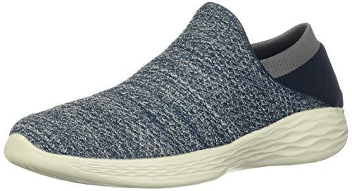 Skechers You, Zapatillas sin Cordones para Mujer, Azul Navy, 37 EU