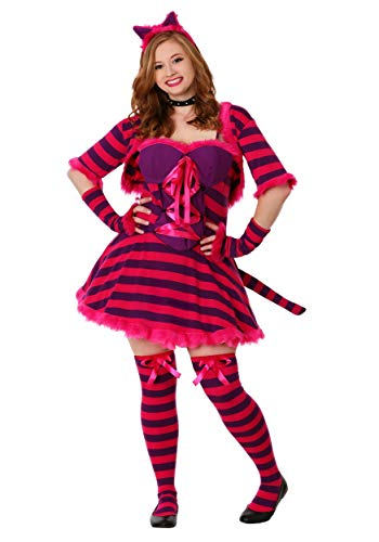 (Plus Size Sexy Wonderland Cat Fancy dress costume 1X)