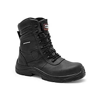 AIRSAFE AS-C8 WATERPROOF COMPOSITE COMBAT SAFETY BOOTS (UK 7  EU41)