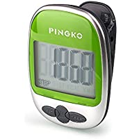 PINGKO Walking Pedometer Accurately Track Steps Portable Sport Pedometer Step/distance/calories/ Counter Fitness Tracker, Calorie Counter