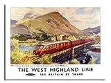 West Highland Line Schottland Railway Poster 1955 - 40 X