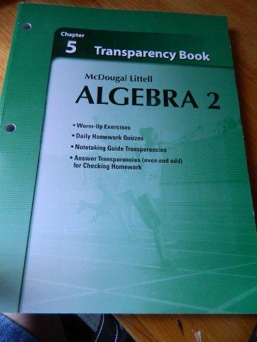 McDougal Littell Algebra 2 Chapter 5 Transparency Book