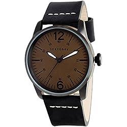 TokyoBay t621-no Herren Edelstahl schwarz Leder Band Noir Zifferblatt Smart Watch
