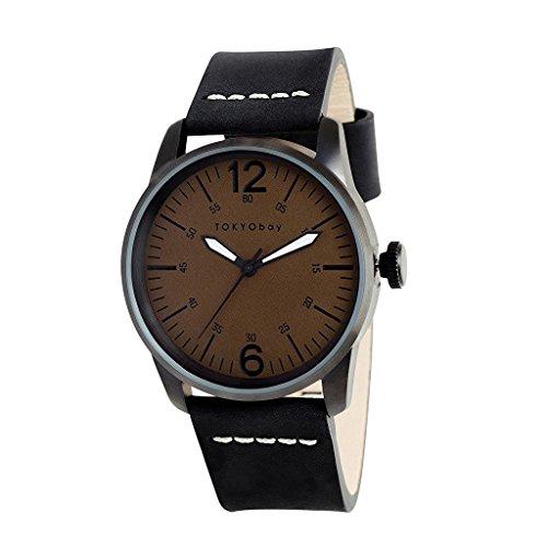tokyobay-t621-no-hombres-del-acero-inoxidable-negro-banda-de-cuero-negro-dial-reloj-inteligente