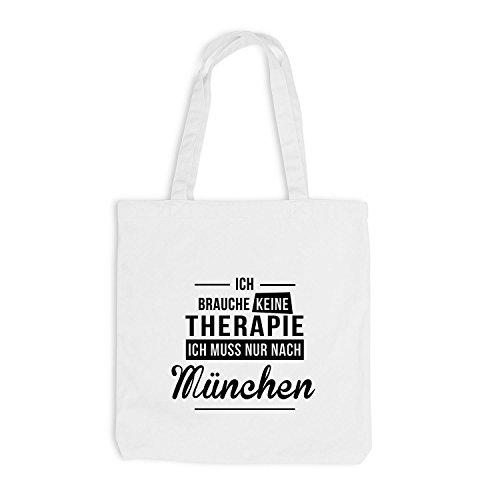 Jutebeutel - Ich Brauche Keine Therapie München - Therapy Urlaub Deutschland Weiß