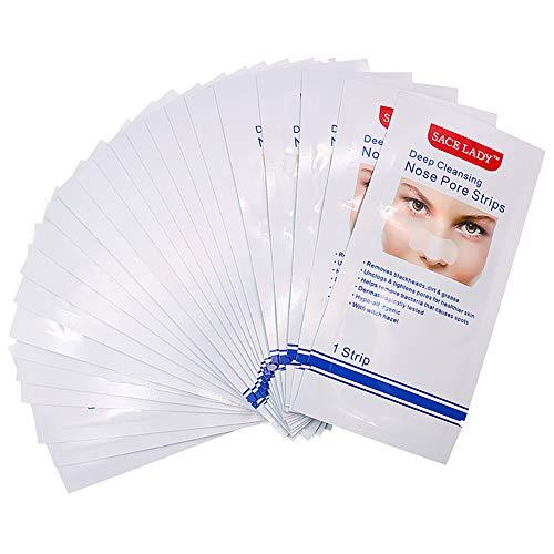 Mitesser Porenstreifen Nasenporen Streifen Tiefenreinigung Deep Cleansing Nose Strips tiefenreinigende Aktivkohle Clear-Up-Strips, 10 Pcs -