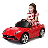 Kinder Elektroauto,Musik Licht Ferngesteuerter/Sitzen Kleinkind Car/Ferrari / Kinderwagen/Auto,Red