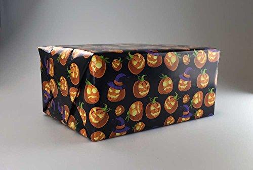 Halloween Kürbis Geschenkpapier als Rolle