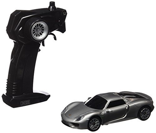 Xq - Modellino Auto Radiocomandata Porsche 918 Spyder, Colore Argento Scuro, Taglia 1:32
