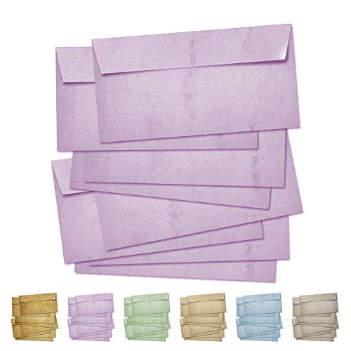 Partycards Sobres | 50 Piezas |Rosa|Formato DIN A4 (21,0 x 29,7 cm)|Gramaje 90 g/m² |impresión a Doble Cara, Adecuada para Todas Las impresoras