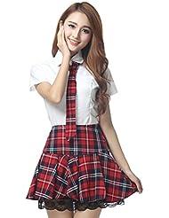 V-SOL Uniforme Corea Atractivo del Falda Traje de Escuela del Estudiante