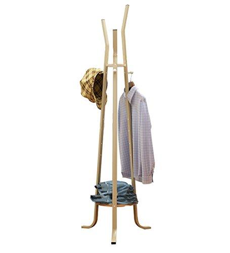 WUFENG Kleiderablage Metall Einfach Regal Kleiderbügel Ahorn Setzlinge 48,5x163cm ( Farbe : Maple Saplings )
