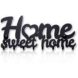 Home Sweet Home Portachiavi da Muro (8- Ganci) Decorativo, Ganci in Metallo per Porta d'ingresso, Cucina, Garage | Organizza le Chiavi di Casa, Lavoro, Macchina, Veicoli | Arredamento Vintage8