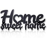 Colgador de Llaves de Pared Home Sweet Home (8 Ganchos) Guardallaves Decorativo de Metal Para Cocina, Garaje o Puerta de Casa   Llaves de Tienda, Trabajo, Coche, Vehículos   Decoración Vintage
