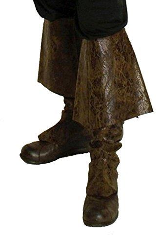 Piraten Erwachsene Stiefelstulpen (Braune Pirat Stiefelstulpen für)