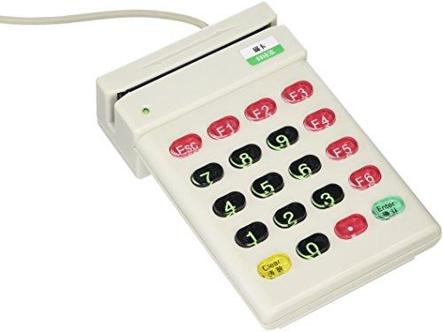 Cablematic - Lecteur de carte magnétique avec clavier USB ISO7811-7815 de la piste 2