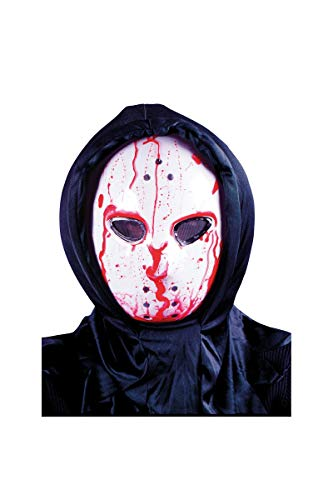 Generique - Blutige Hockey-Maske Serienkiller Halloween animiert Weiss-rot (Animierte Halloween Maske)