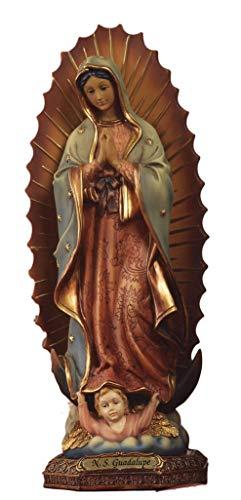 Estatua Virgen Maria de Guadalupe de resina cm. 33by paben