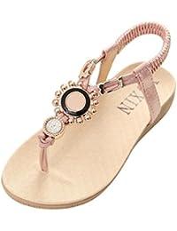 Flores Diamante de Imitación Decorativo Dedo del Suelas Blandas Sandalias Piso Bohemia Flips Zapatillas los Verano Zapatos Para Niña