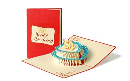 Geburtstagskarte, Glückwunschkarte, 60. 60er Geburtstag, 60 Jahre, Glückwünsche, Karte zum Geburtstag, Handmade, edel, elegant, G14.4