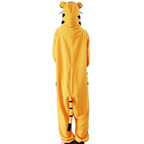 Yimidear Unisexe Adulte Pyjamas Cosplay Costume d'animal Onesie de nuit Tiger