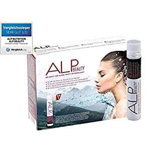 ALP BEAUTY Kollagen Trinkampullen 14x25 ml Hyaluronsäure liquid Collagen Supplement - Anti Falten Kosmetik & Hautpflege