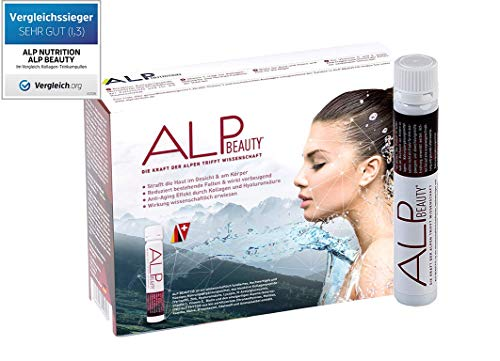 ALP NUTRITION, ALP BEAUTY Kollagen Trinkampullen 14×25 ml Hyaluronsäure Biotin Liquid Collagen Peptides Anti Falten Kosmetik