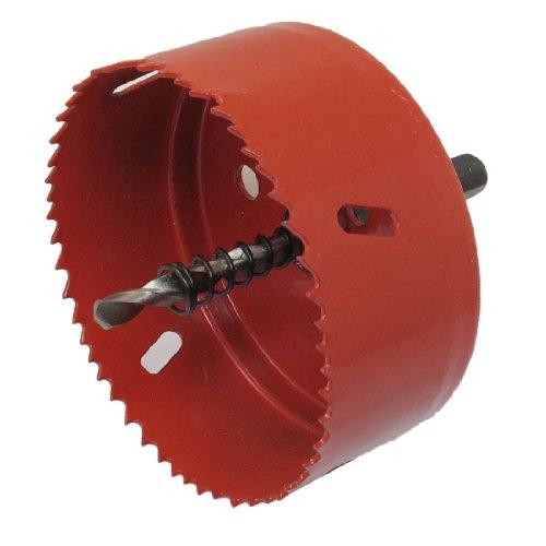 Hole Cutter (Sourcingmap a12101500ux0867 Lochsäge, mit Zentrierbohrer, 10mm, Rot)