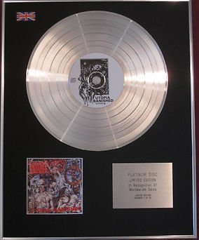 NAPALM DEATH Platinum Disc-UTOPIA BANISHED CD