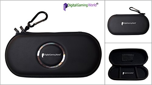 Digital Gaming World® New P-S-P ZIP Pouch-Case For P-S-P 1000/2000/3000 and E-1000/E-1004(Latest 2016 Editions) Black Color Limited Edition