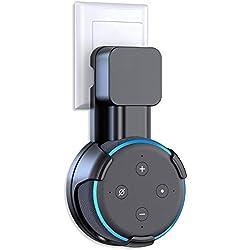 Cocoda Soporte de Pared para Dot 3.ª Generación, Solución de Ahorro de Espacio para Tus Altavoces Doméstico Inteligentes, Accesorios Dot con Disposición de Cables Ocultar Cables Sucios (Negro)
